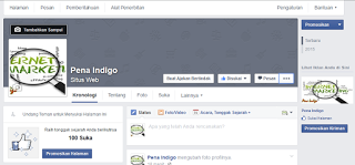 tampilan fanspage fb