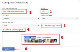 Cara Membuat Tombol Suka (Like Button) Facebook di Blog