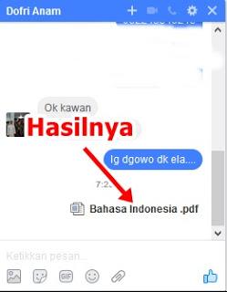 Cara terbaru Mengirim File lewat Facebook