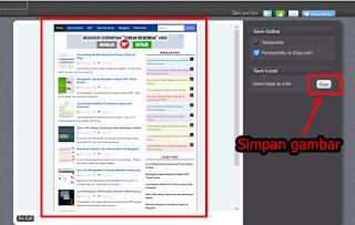 save gambar screenshot