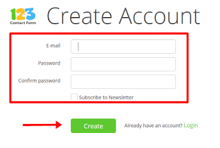 creat account contact form