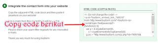 code script contact form di blog