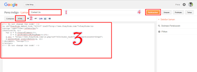 memasang contact form di blog