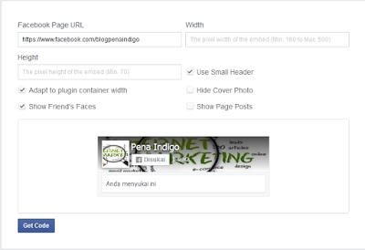 pengaturan tampilan fanspage