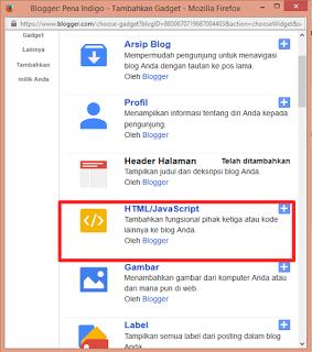 html java script blogger