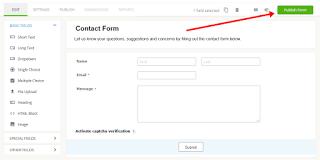 halaman contact form