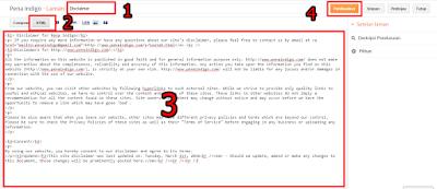 Memasang Laman Disclaimer di Blog