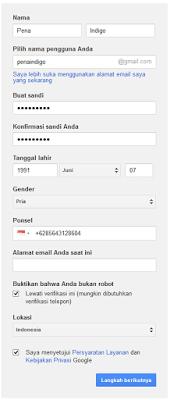 Cara Membuat Email gmail Baru Gratis