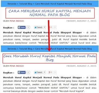 Cara Merubah Huruf Kapital Menjadi Normal Pada Blog