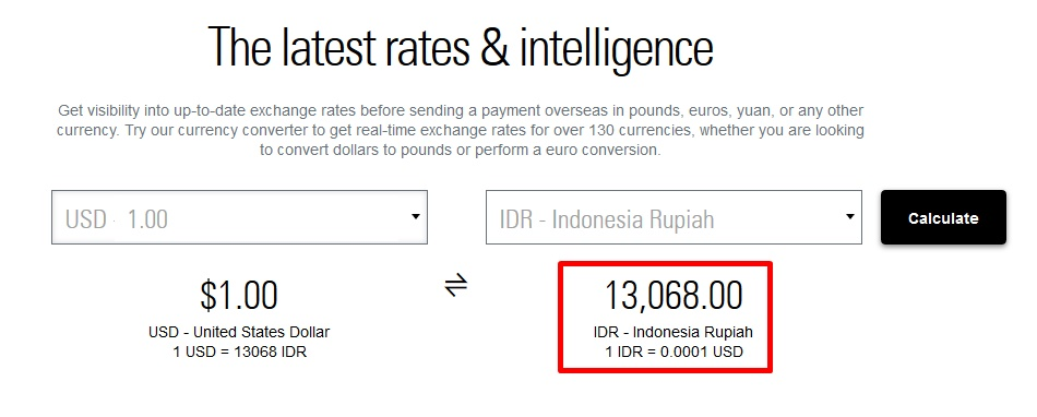 Rupiah To Dollars Conversion – Currency Exchange Rates