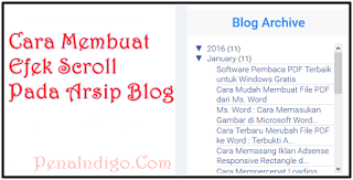Photo of Cara Membuat Efek Scroll Pada Arsip Blog (Blog Archive)