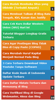 cara memasang popular post warna warni di blog