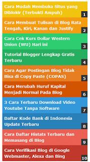 cara memasang popular post warna warni di blog