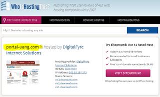 cara mengetahui hosting website orang lain