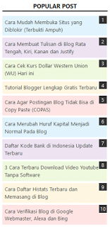 membuat popular post warna warni di blogspot