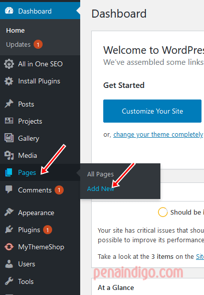memasang privacy policy di blog wordpress