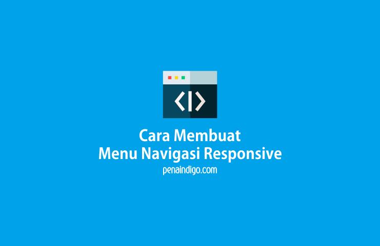 cara membuat menu navigasi responsive