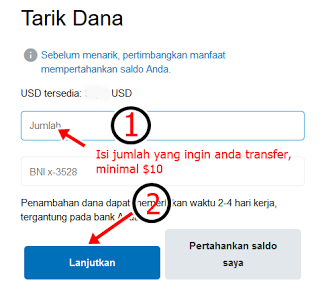 transfer dollar paypal ke bank indonesia