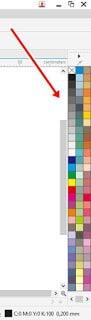 memunculkan semua warna di corel drow