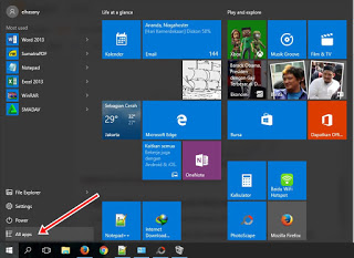 uninstal dari start menu di windows 10