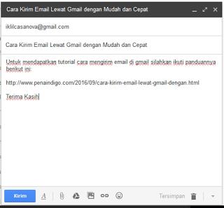 mengirim email lewat gmail