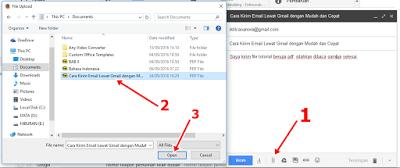 Kirim Email lewat Gmail dengan Lampiran