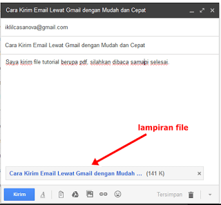 Mengirim Email di Gmail Beserta Lampiran