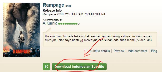 cara download subtitle bahasa indonesia