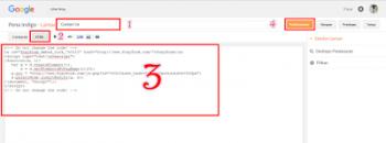 pasang contact form di blogspot