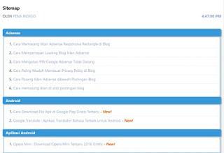 Cara Membuat Sitemap SEO Keren di Blogspot