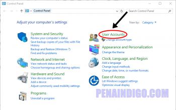 cara mengganti nama user account windows 10