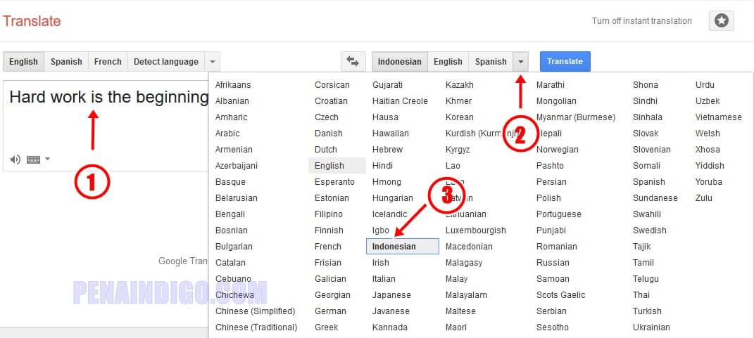 Cara Translate Bahasa Inggris Ke Indonesia Secara Online Pena Indigo