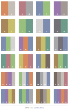 kombinasi warna abu-abu untuk pakaian