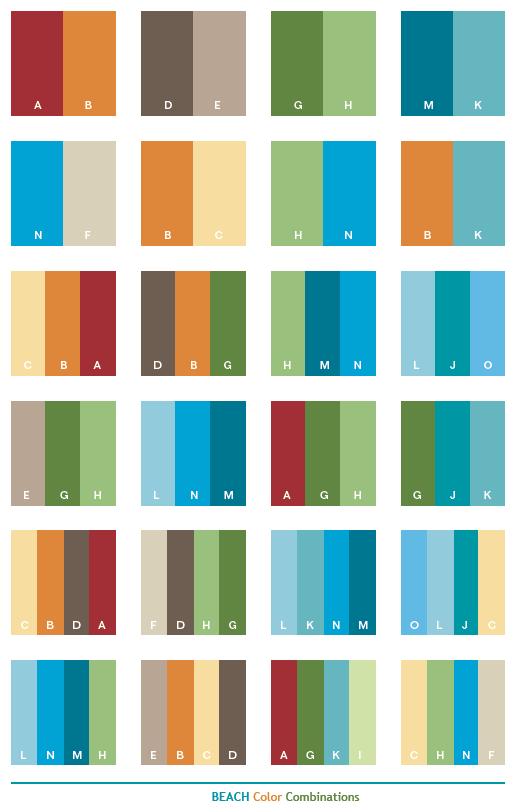 Kombinasi Warna Biru Laut Pena Indigo