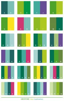 kombinasi warna hijau untuk pakaian dan desain