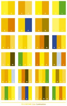 kombinasi warna kuning lengkap