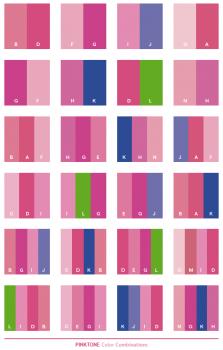 kombinasi warna ping yang cocok untuk pakaian dan desain