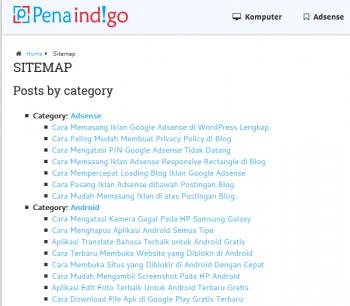 cara membuat daftar isi di blog wordpress 1