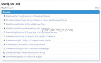 cara membuat sitemap satu label di blogger 1