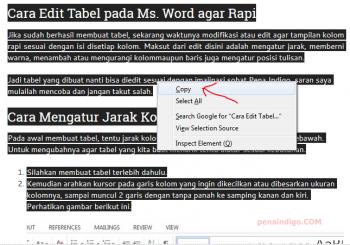 Cara Menyalin Text dari Internet ke Word Supaya Rapi