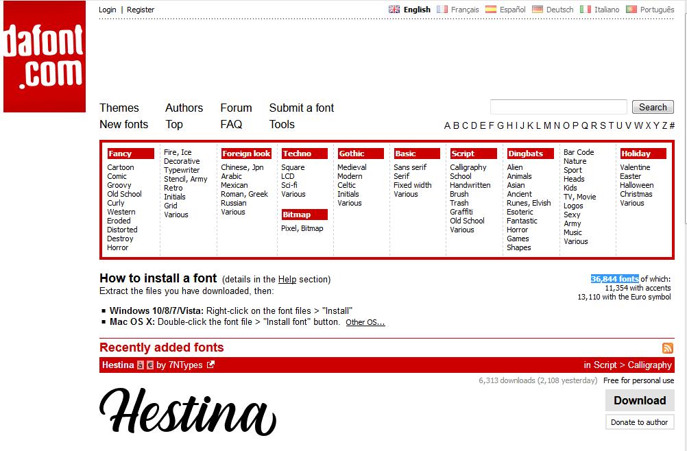 Website Tempat Download Font Terbaik Gratis 5