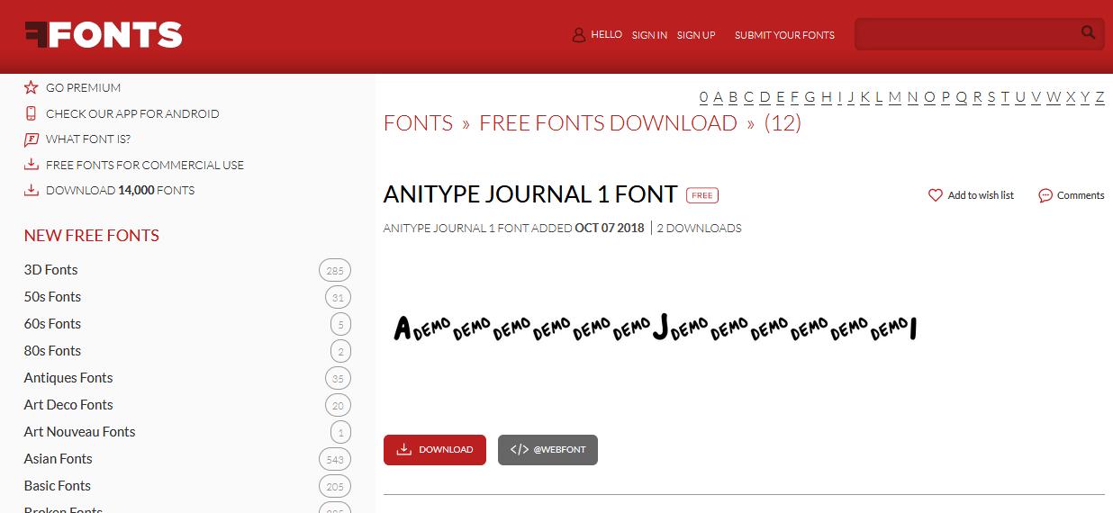 Website Tempat Download Font Terbaik Gratis 8