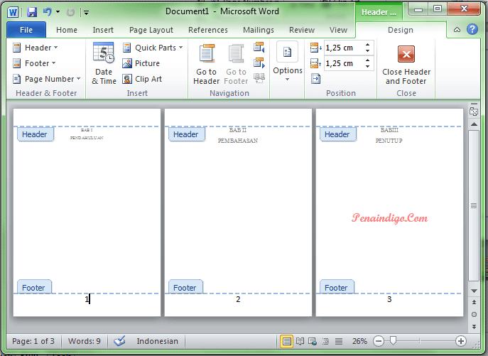 cara mengatur ukuran dan jenis font nomor halaman ms word