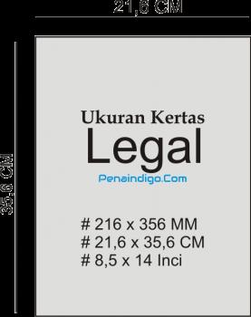 ukuran kertas legal