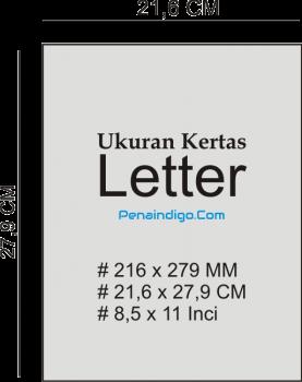 ukuran kertas letter