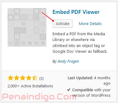 menampilkan pdf di wordpress