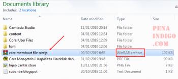bentuk format file rar zip