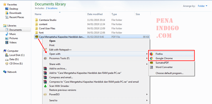 membuka pdf dengan web browser