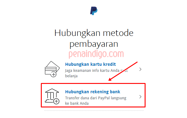 menghubungkan rekening bank ke akun paypal