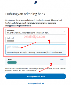 menghubungkan rekening bank ke paypal